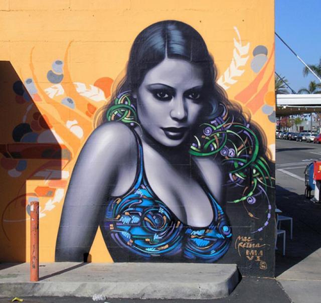 graffitis de mujeres - chica bonita