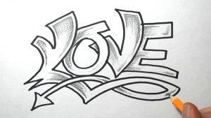 graffitis de love - a lapiz