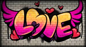 graffitis de love - con alas