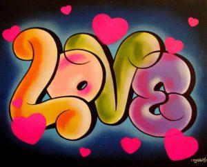 graffitis de love - con corazones