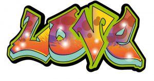 graffitis de love - diseno de color