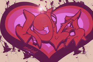 graffitis de love - en un corazon