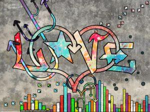 graffitis de love - wallpaper