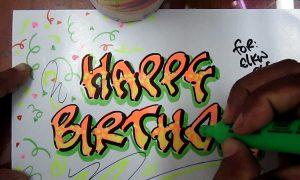 Graffitis de felicitaciones de cumpleaños