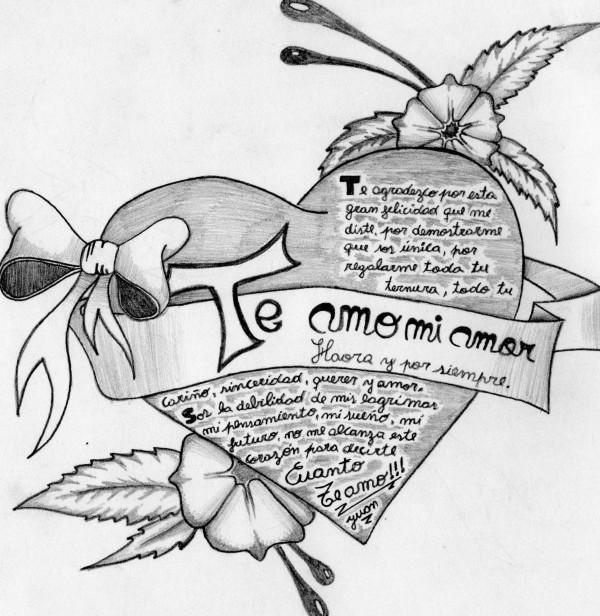 Dibujos De Amor A Lapiz Arte Con Graffiti