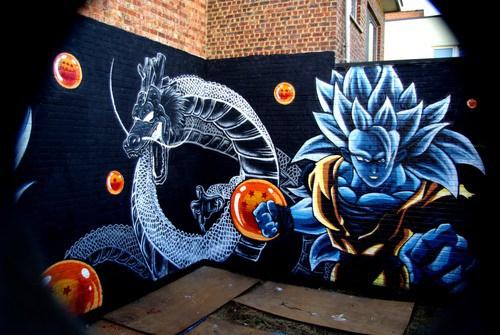 Imgenes de graffitis de Goku  Arte con Graffiti