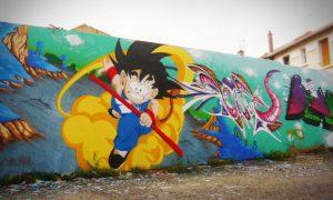 Imágenes de graffitis de Goku