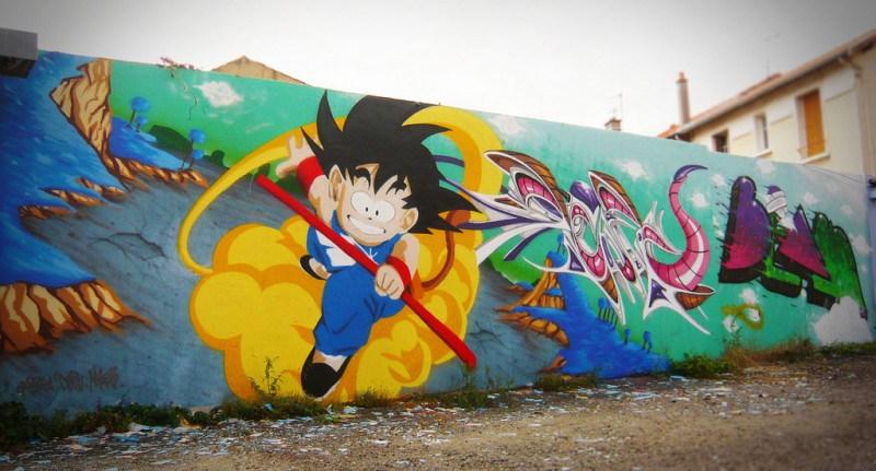 Im genes de graffitis de goku arte con graffiti - Graffitis en paredes ...