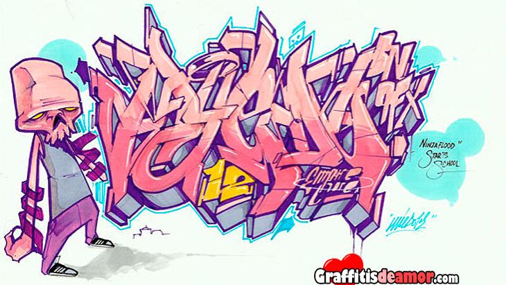 Graffitis te amo 3d 20 im 225 genes de graffitis en 3d - Graffitis en papel ...