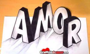 Cómo dibujar en 3D la palabra AMOR