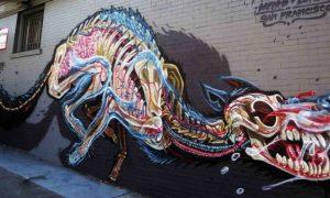 El arte urbano como el de kaosystem, cada vez más de moda
