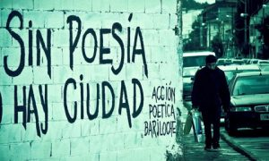 Poemas de amor graffiteados en la pared
